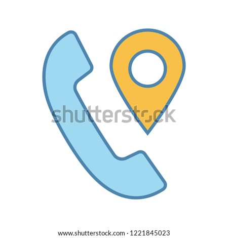 Calls Tracking Color Icon Incoming Call Stock Vector