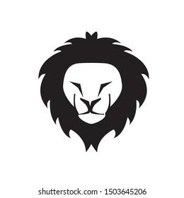 The calm black lion's head is creepy