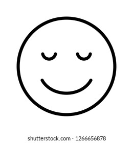 Calm Emoji Vector Icon Sign Icon Vector Illustration For Personal And Commercial Use...Clean Look Trendy Icon...