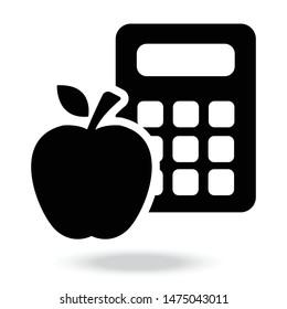 Calorie calculator icon . Calorie calculator icon concept . Vector illustration for your web mobile logo app UI design