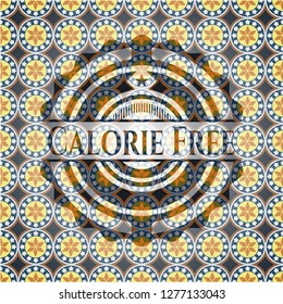 Calorie Free arabesque style emblem. arabic decoration.