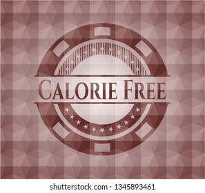 Calorie Free red seamless geometric badge.