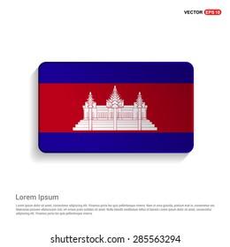 Cambodia flag isolated on white background - vector illustration