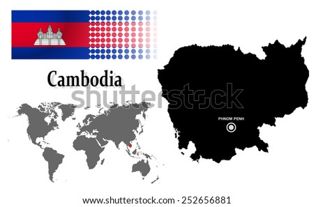 Cambodia Info Graphic Flag Location World Stock Vector (Royalty Free ...