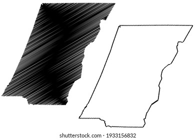 Cambria County, Commonwealth of Pennsylvania (U.S. county, United States of America) map vector illustration, scribble sketch Cambria map
