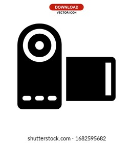 camcorder icon or logo isolated sign symbol vector illustration - high quality black style vector icons