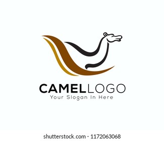 Camel art logo with slash