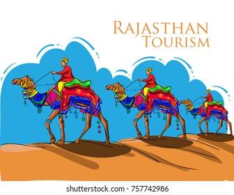 camel desert safari vector illustration