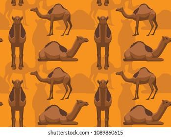 Camel Dromedary Background Seamless Wallpaper