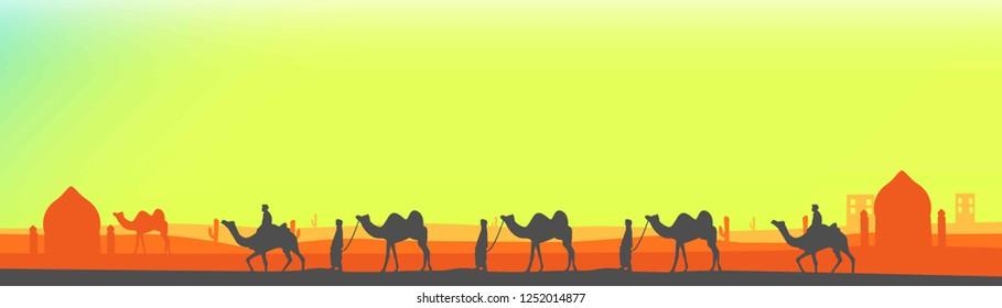 the camel festival. Festival of India illustration flat.