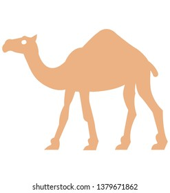 Camel Isolated Vector Icon which can easily modify or edit