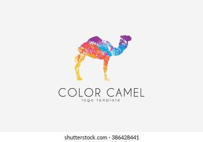 2866560bc7a Camel logo. Color camel logo design. Animal logo. Creative logo