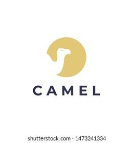 camel logo design,creative simple element logo template