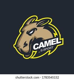 camel logo for e-sport gaming mascot logo