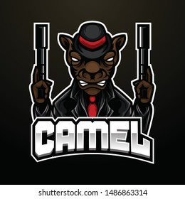 Camel Mafia Angry Esport Mascot Suitable For  Esport Logo