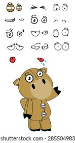 camel plush cartoon expressions set in vector format very easy to edit