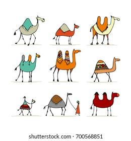 Camel set, sketch for your design