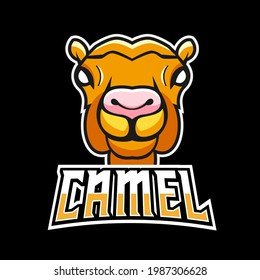 Camel sport or esport gaming mascot logo template, for your team