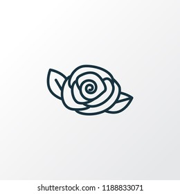 Camellia icon line symbol. Premium quality isolated rose element in trendy style.