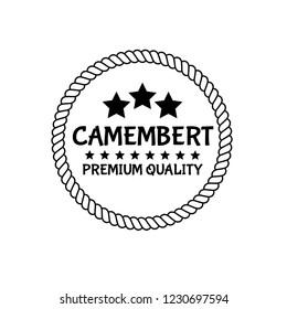 camembert premium quality emblem, label, badge,sticker. premium quality package label. vintage stamp. designed for camembert product