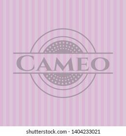 Cameo pink emblem. Vector Illustration. Detailed.