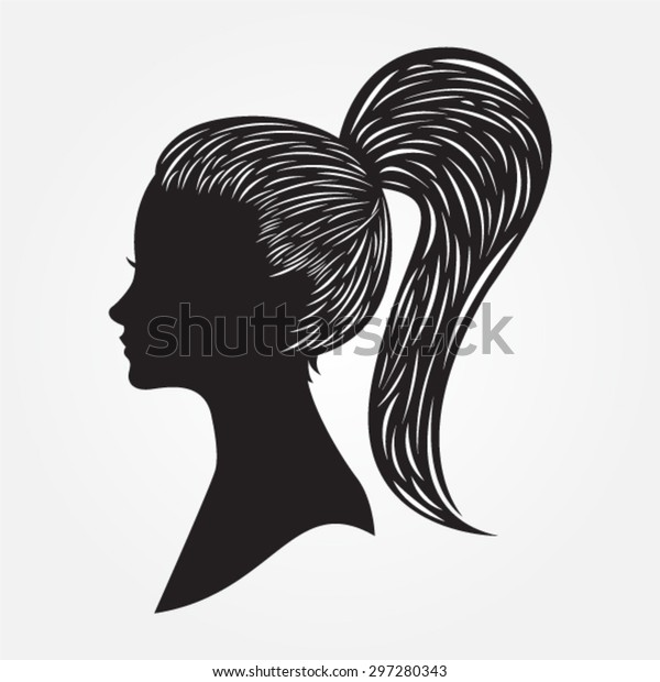 Cameo Silhouette - long haired tied
