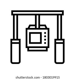 camera anti shock tool line icon vector. camera anti shock tool sign. isolated contour symbol black illustration
