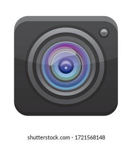 camera app button menu isolated icon vector illustration design
