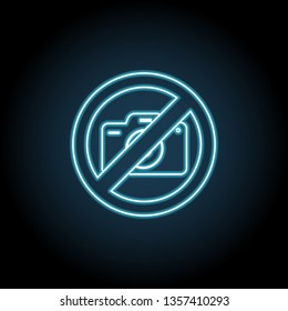 Camera ban, forbiddance icon. Simple thin line, outline vector of ban, prohibition, forbid icons for UI and UX, website or mobile application
