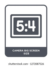 camera big screen size icon vector on white background, camera big screen size trendy filled icons from Electronic stuff fill collection, camera big screen size simple element illustration