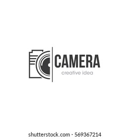 Camera Creative Concept Logo Design Template