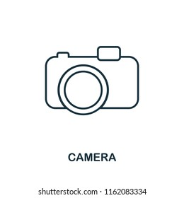 Camera creative icon. Simple element illustration. Camera icon symbol design from travel collection. Can be used for web, mobile and print. web design, apps, software, print.