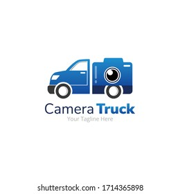 Camera Delivery Truck Logo Design