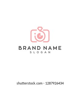 camera and diamond wedding photography logo design