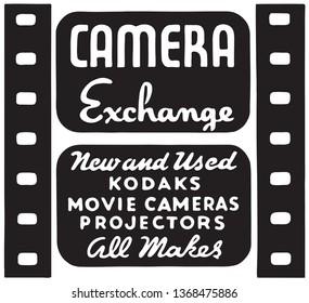 Camera Exchange - Retro Ad Art Banner
