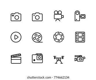 Camera and Film Icons