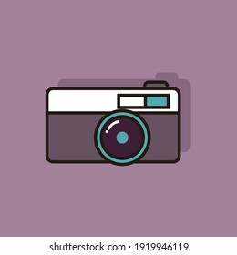 Camera flat icon logo for commercial use