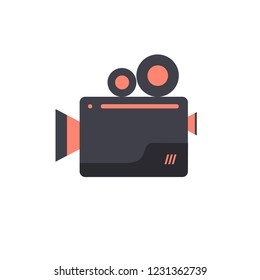 Camera flim icon design, mutimedia , communication ,movie flim