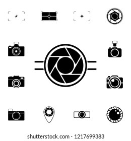 camera focus icon. Detailed set of photo camera icons. Premium quality graphic design icon. One of the collection icons for websites, web design, mobile app on white background