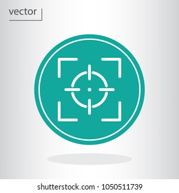 camera focus icon - vector illustration EPS 10, flat design icon