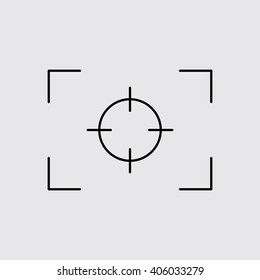 Camera Focus line icon. Eps-10.
