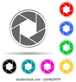 camera focus multi color style icon. Simple glyph, flat vector of photo icons for ui and ux, website or mobile application