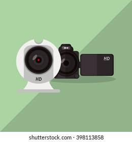camera icon design, vector illustration