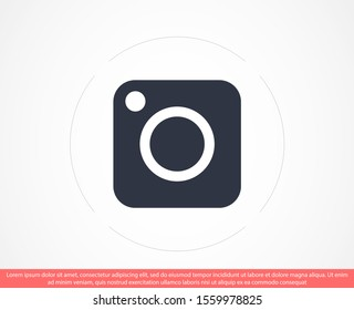Camera icon  flat photo camera vector isolated. Modern simple snapshot photography sign. Instant Photo internet concept. Trendy symbol for website design, web button, mobile app. Logo illustration