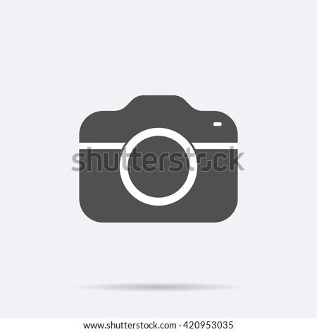 Camera Icon Isolated Modern Simple Flat Stockvector Rechtenvrij