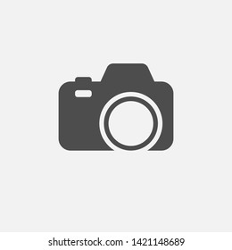 Camera icon isolated on white background. Vector illustration. Eps 10.
