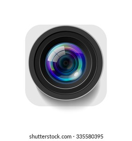 Camera Icon Isolated on White