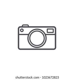 camera icon line design