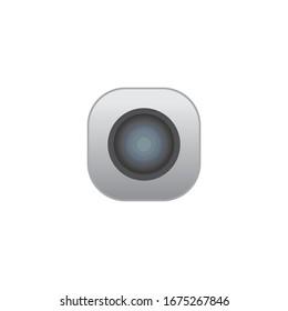 camera icon logo design vector