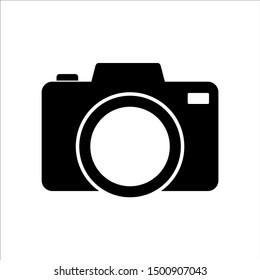 Camera icon, logo isolated on white background